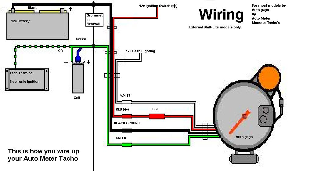 Autometer 5 Inch Tach Wiring Diagram from www.rollaclub.com