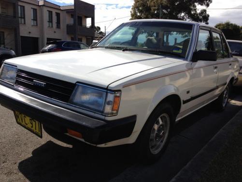 1984 toyota corolla csx sedan auto 1 6 for sale cars toyota only. Black Bedroom Furniture Sets. Home Design Ideas