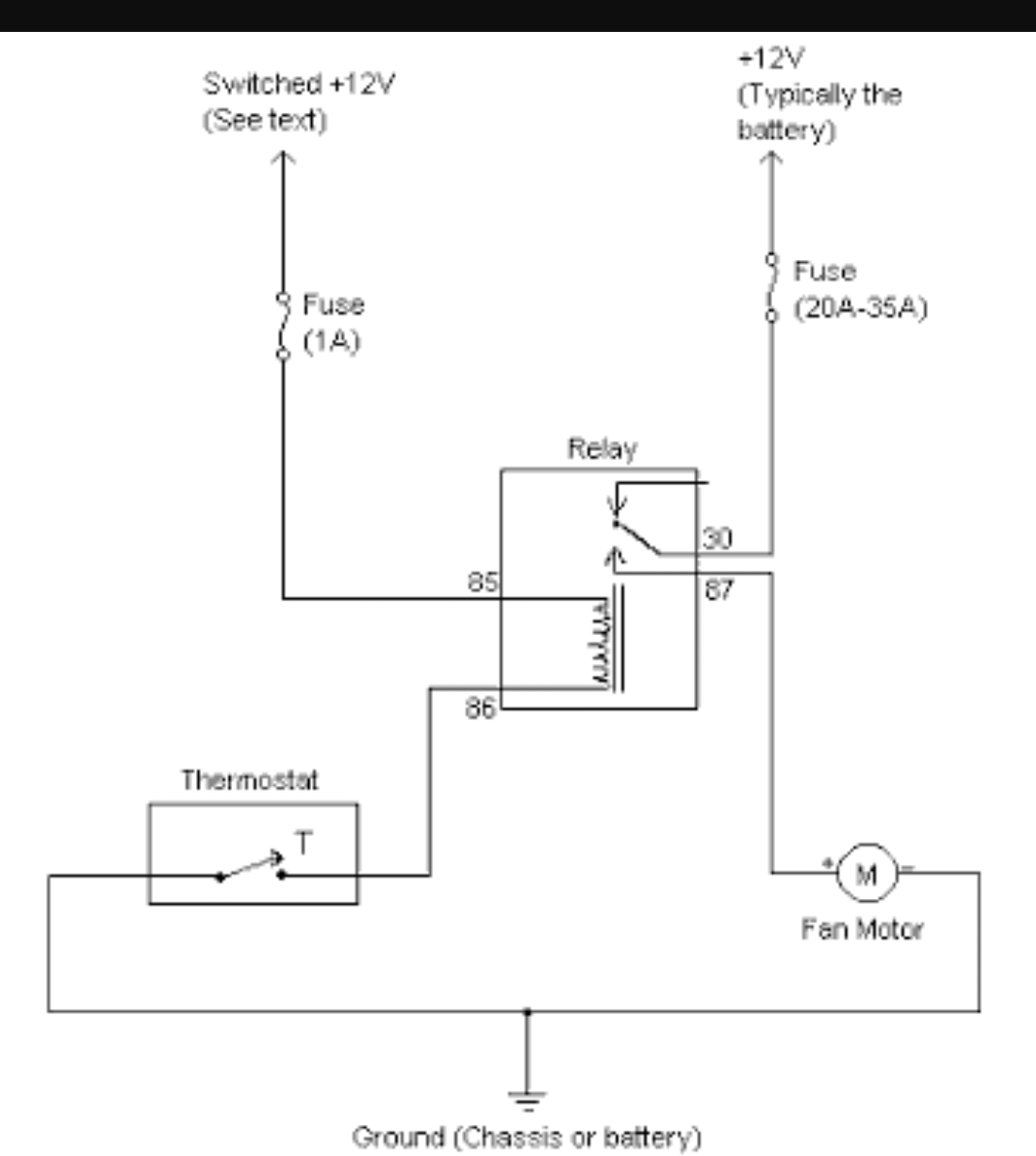 Wiring Diagram Thermo Fan : Wiring thermo fan off thermatic switch car electrical
