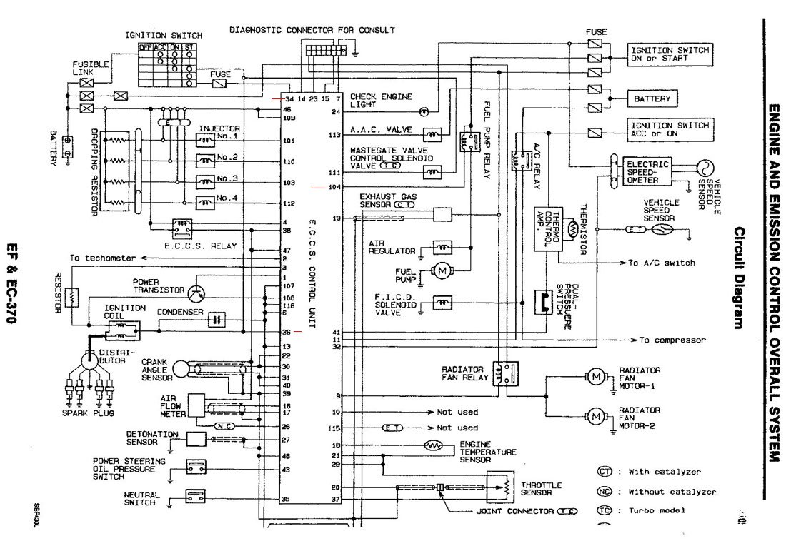 1991 Nissan 240sx Wiring Diagram On 1991 Nissan 240sx Engine Diagram